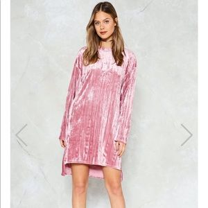 Pleat Pink Dress